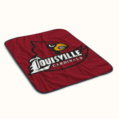 Louisville Cardinals Logo Fleece Blanket