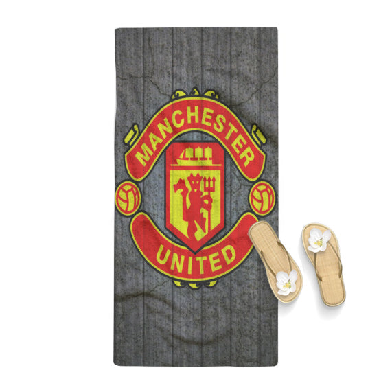 Manchester United Logo on Wood Towel