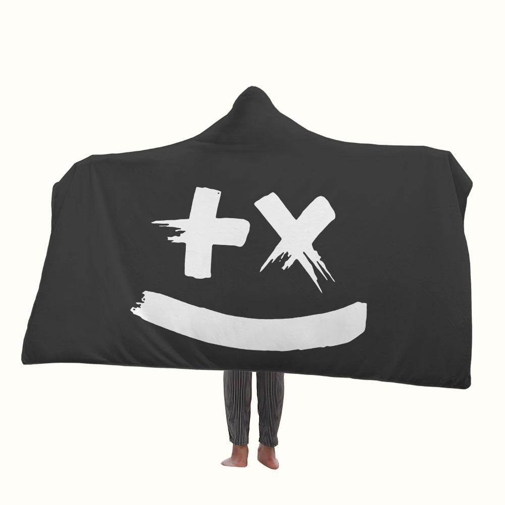 Martin Garrix Smiley Hooded Blanket