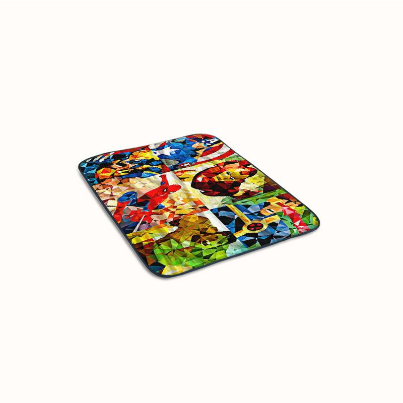 Marvel Heroes Goes Geometric Fleece Blanket