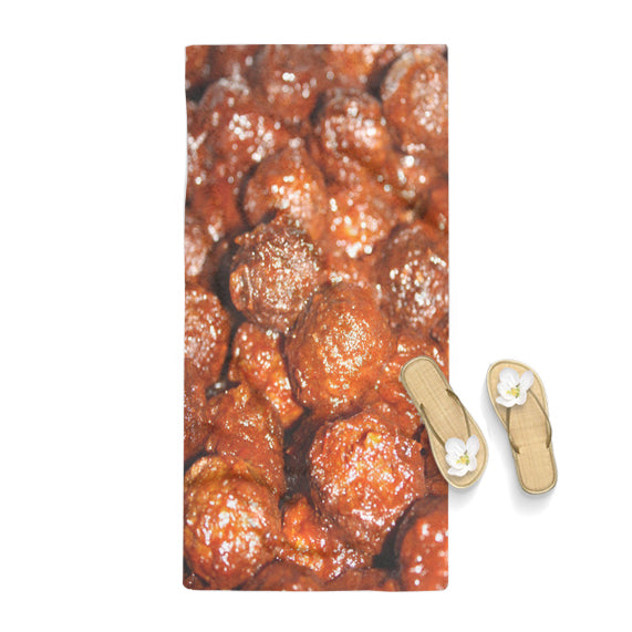 Meatballs Pattern Poster Towel