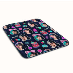 Melanie Martinez Face Collage Fleece Blanket