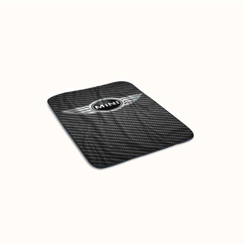 Mini Cooper logo on Carbon Fleece Blanket