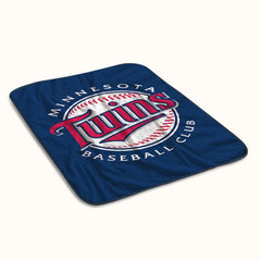 Minnesota Twins Baseball Club Logo Fleece Blanket