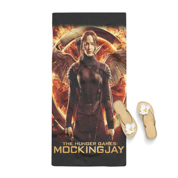 Mockingjay The Hunger Games Poster Towel
