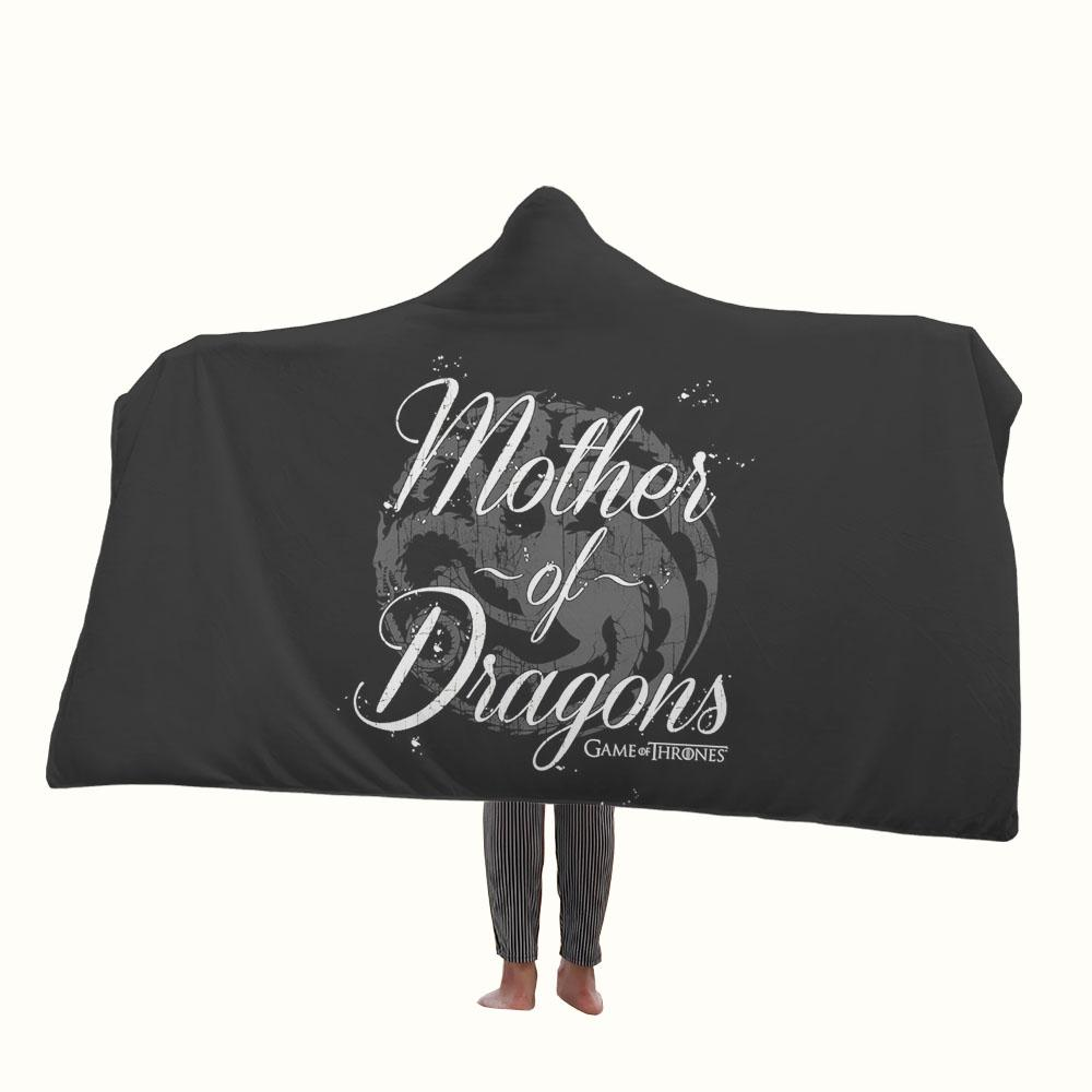 Mother of Dragon Game of Thrones Hooded Blanket