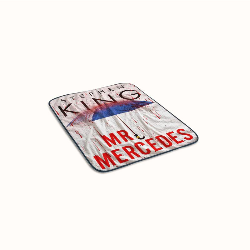 Mr Mercedes Stephen King Cover Watercolor Fleece Blanket