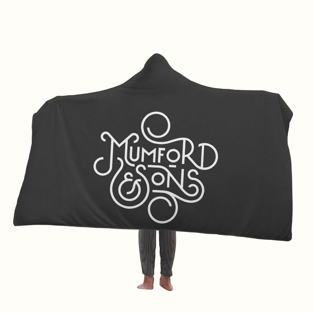 Mumford and Sons Logo Hooded Blanket