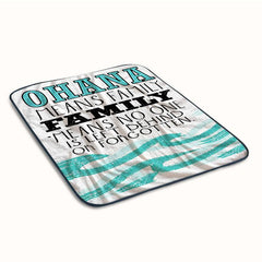 Ohana Means Family lilo and stitch Quotes Fleece Blanket