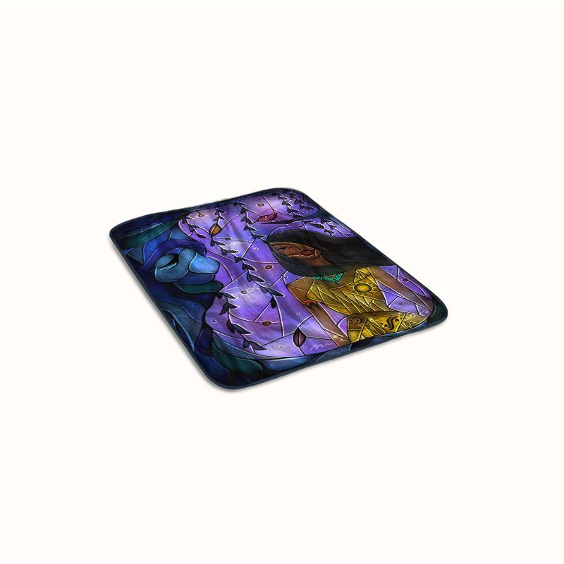Pocahontas Stained Glass Fleece Blanket