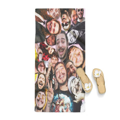 Post Malone Funny Face Collage Towel