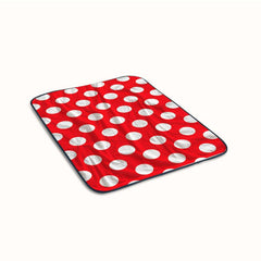 Red Patern Polka Fleece Blanket