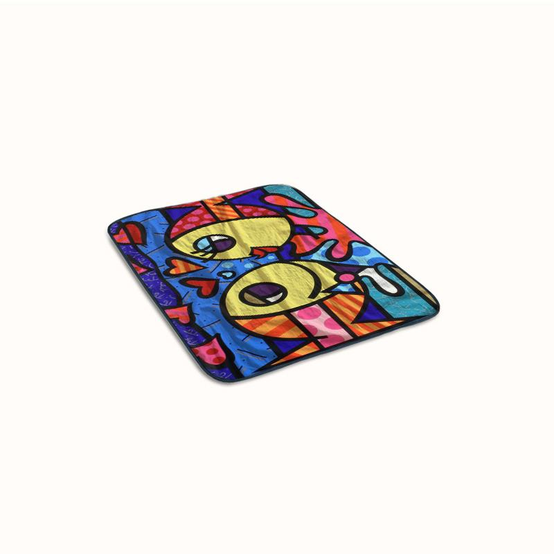 Romero Britto Fish Lovers Fleece Blanket