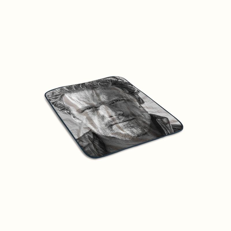 Sam Heughan Portrait Fleece Blanket