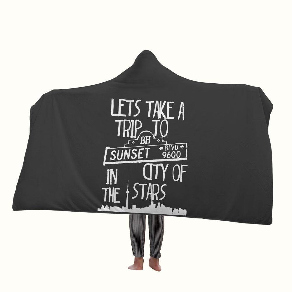 Sunsets Boulevard Quotes Hooded Blanket