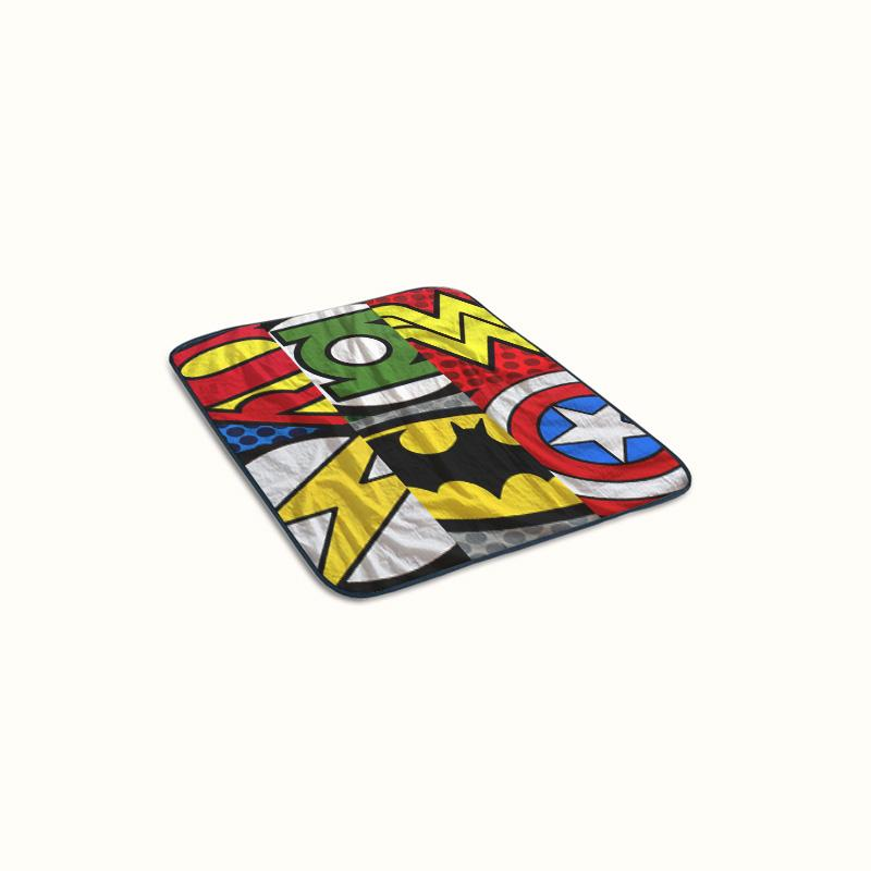 Superhero Logo Fleece Blanket
