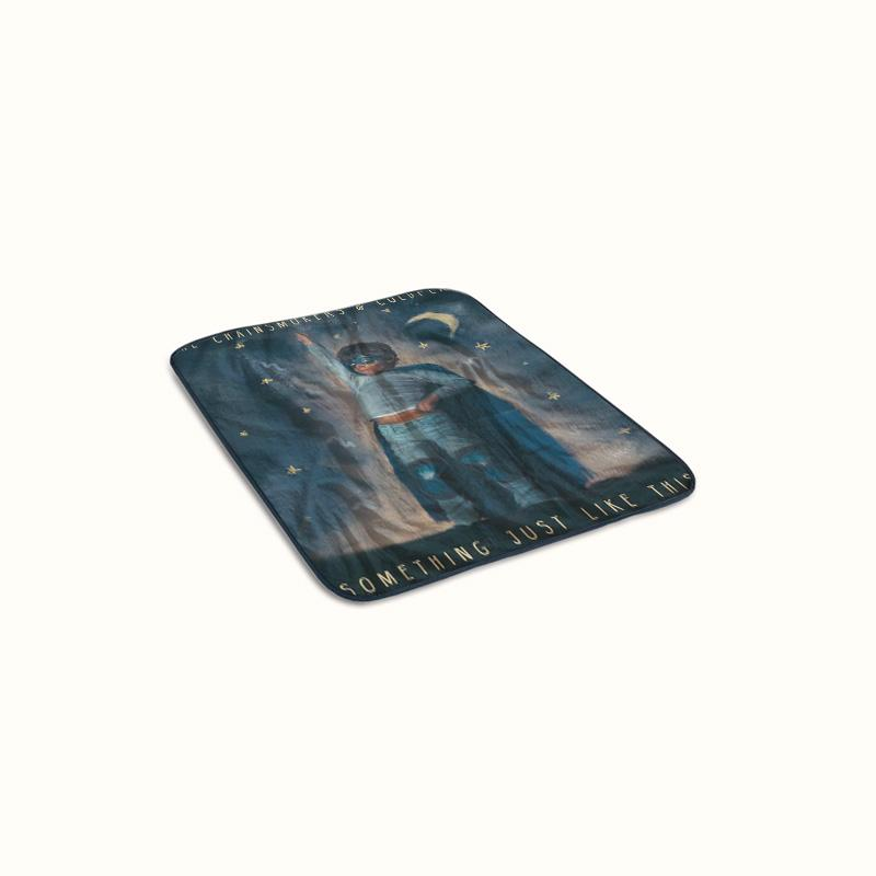 The Chainsmokers and Coldplay Something Just Like This Fleece Blanket