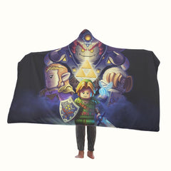 The Legend of Zelda Lego Hooded Blanket