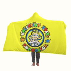 Valentino Rossi The Doctor Logo Hooded Blanket