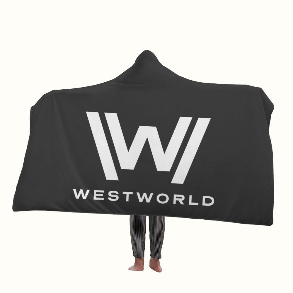 Westworld Logo Hooded Blanket