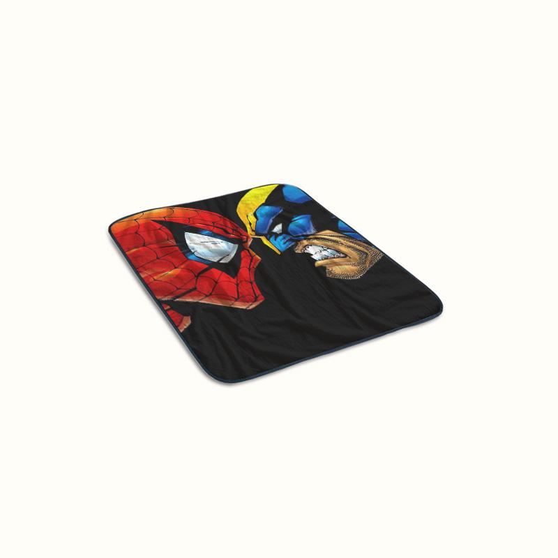 Wolverine and Spiderman Angry Fleece Blanket