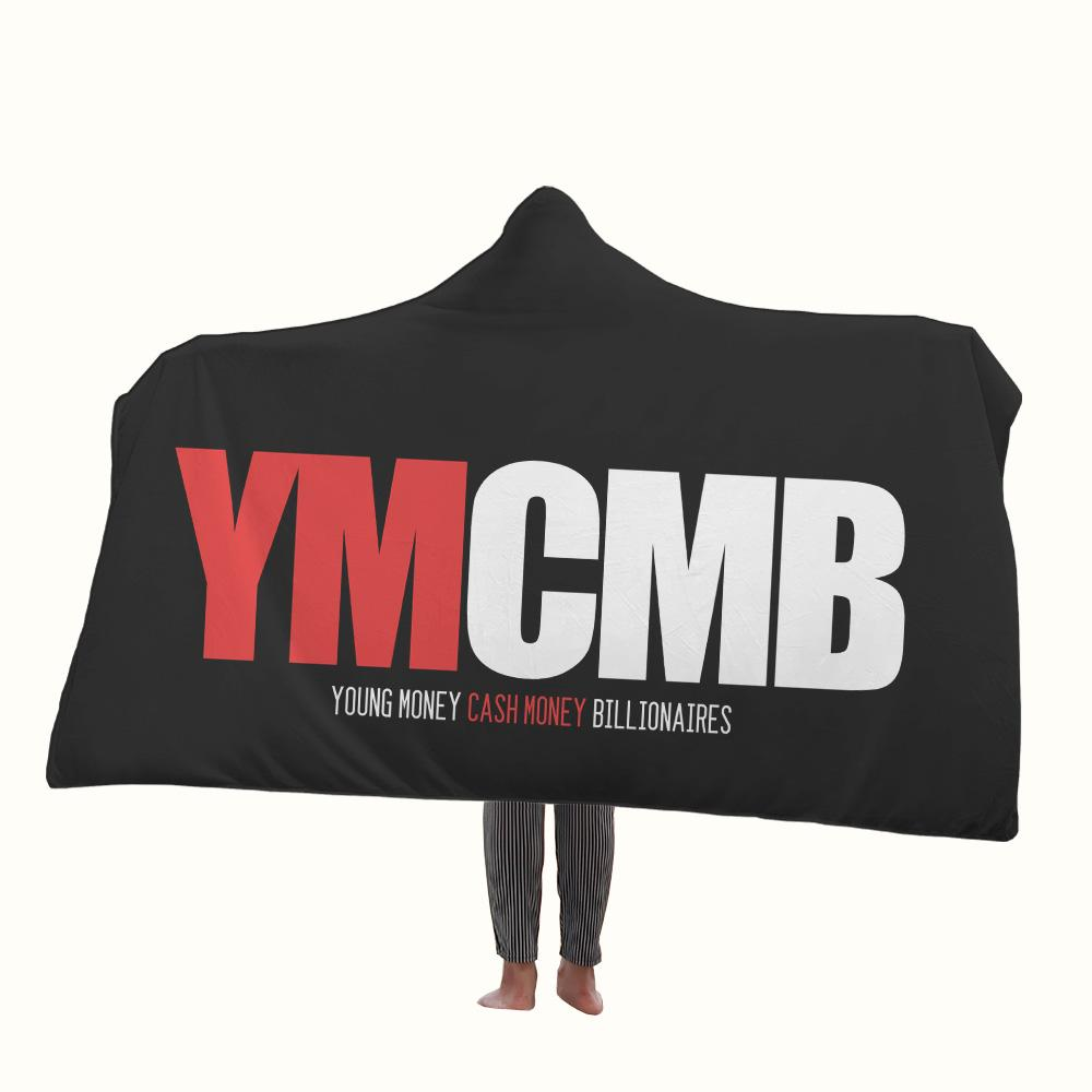 YMCMB Logo Hooded Blanket