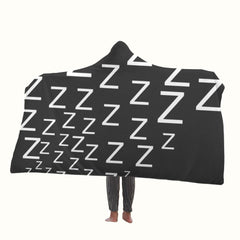 Zzzzzzz Logo Hooded Blanket