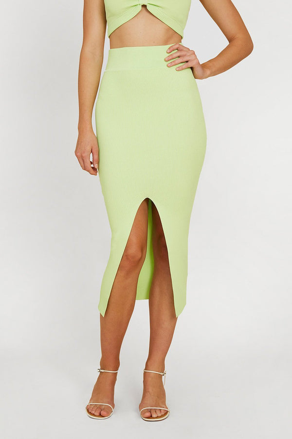Alice split skirt, lime
