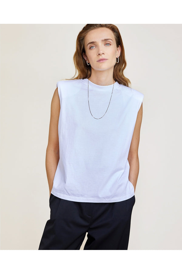 Devon top, white