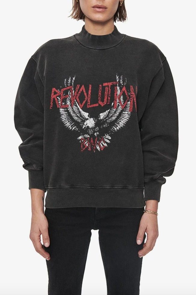 SAINT SWEATSHIRT REVOLUTION, WASHED BLACK