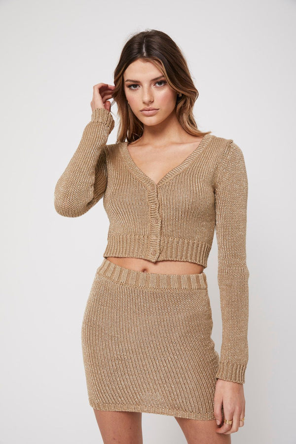 The night cardigan, gold