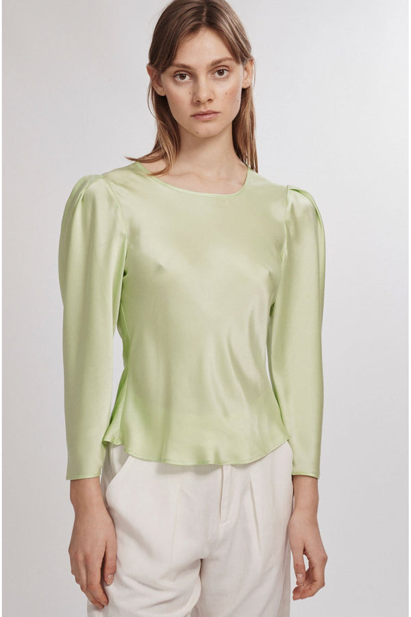 ORIGAMI SLEEVE TOP, LUMINARY