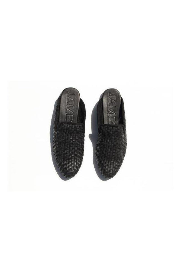 Street Slipper Leather Woven