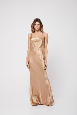 The Slip dress, champagne