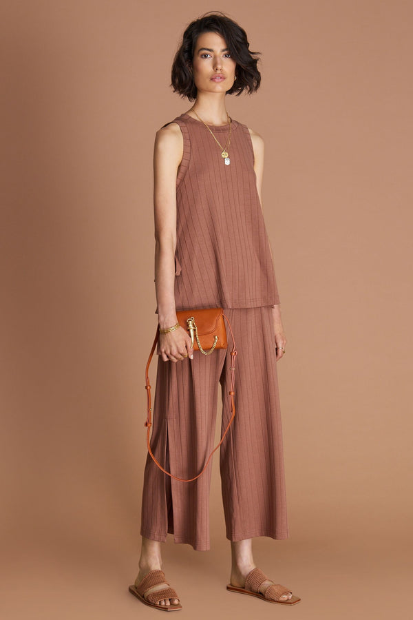 The Grace knit pant, toffee