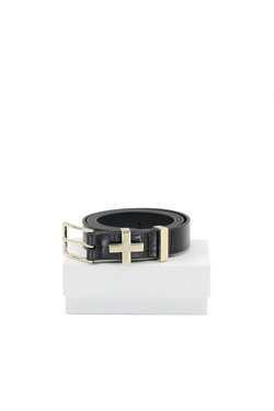 The Brooklyn croc belt, light gold