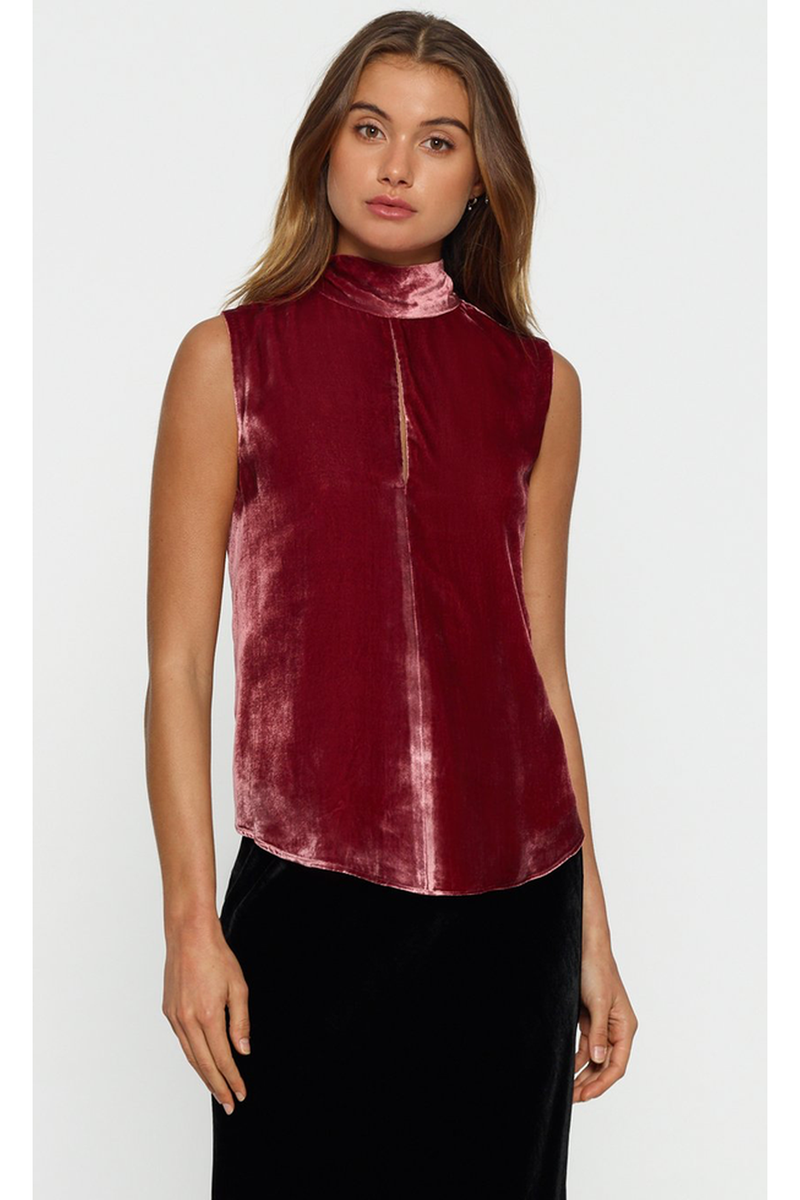 First Love Velvet Sleevless Top