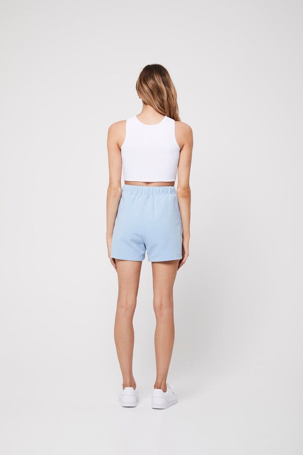 The shorts, baby blue