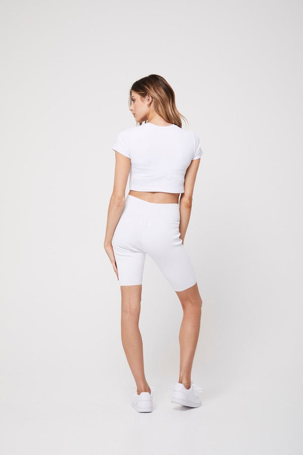 The Bike short, white