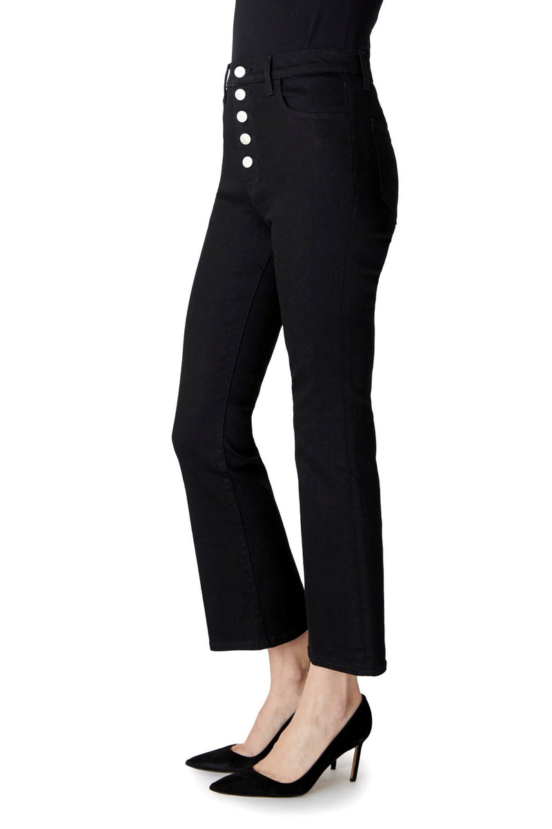 Lillie High- Rise Crop  Flare, Vesper Noir