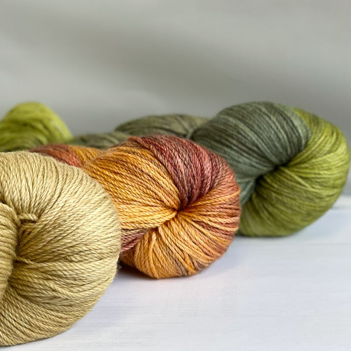 Wool Bamboo Nylon Hand-Dyed (100g) - Fingering