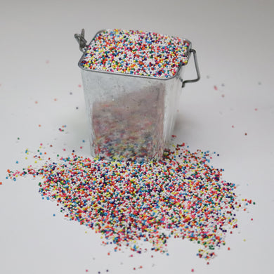 Rainbow Small Nonpareils Sprinkles for Soap