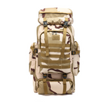 Multifunctional Shoulder Canvas Backpack For Hiking