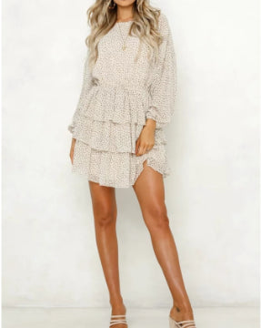 Polka Dot Mini Dress - StyleCamo