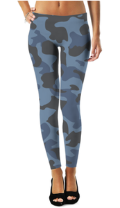Ladies Blue Camo 2 Legging