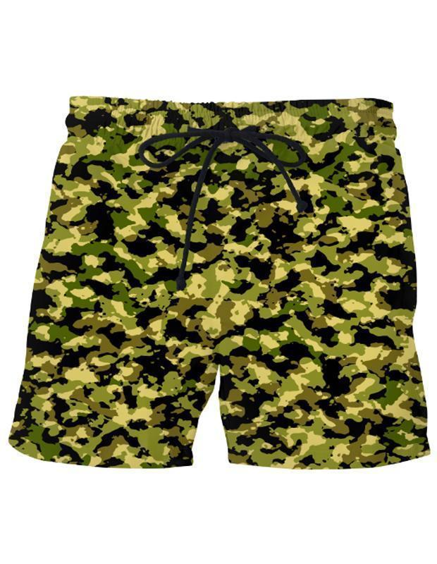 Men's Camouflage Swim Shorts