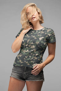 Ladies Camouflage 8 Classic Sublimation T-Shirt