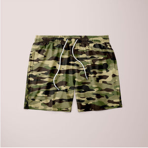 Men's Camouflage Pattern Plakat Shorts