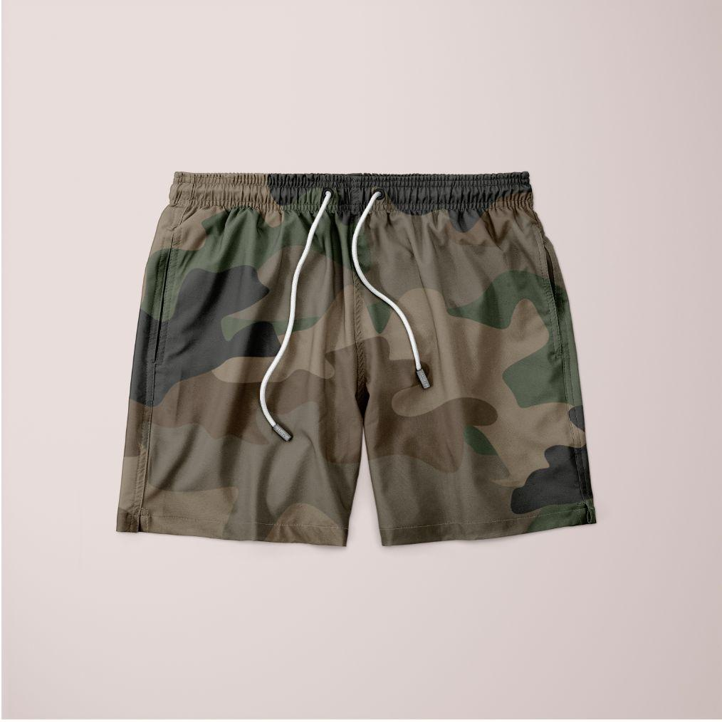 Men's Camouflage Seamless Shorts