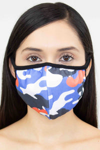 Camouflage Print Face Mask - Red